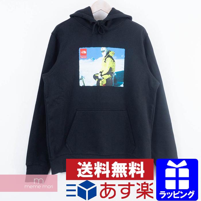 Supreme×THE NORTH FACE 2018AW Photo Hooded Sweatshirt シュプリーム×ノースフェイス フォトフーデッドスウェットシャツ プルオーバーパーカー ブラック サイズL【200320】【新古品】