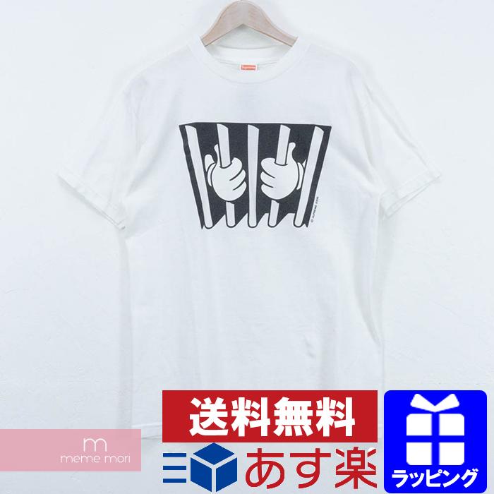 Supreme 2006SS Mickey Jail Cell Tee シュプリーム ミッキーマウス刑務所Tシャツ 半袖 ホワイト サイズM【190207】【中古-B】