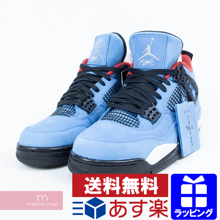 new products 60f90 8f680 NIKE X TRAVIS SCOTT 2017SS AIR JORDAN 4 RETRO CACTUS JACK 308,497-406 Nike  X Travis Scot Air Jordan 4 nostalgic Cactus Jack sneakers blue size ...