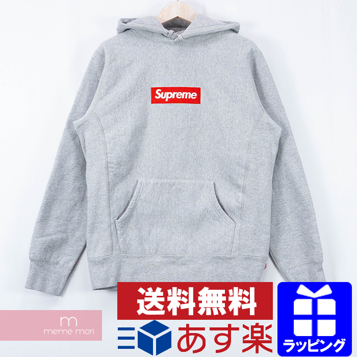 Supreme Box Logo Pullover Hoodie シュプリーム ボックスロゴプルオーバーフーディ― パーカー グレー サイズM プレゼント ギフト【191120】【中古-B】