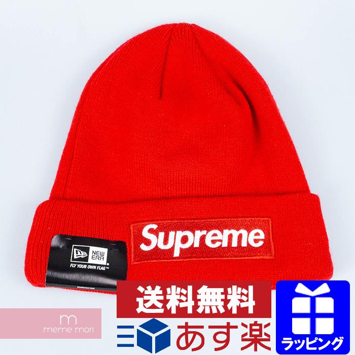 Supreme×New Era 2015AW Box Logo Beanie シュプリーム×ニューエラ ボックスロゴ ビーニー ニットキャップ ニット帽 帽子 レッド プレゼント ギフト【200105】【新古品】