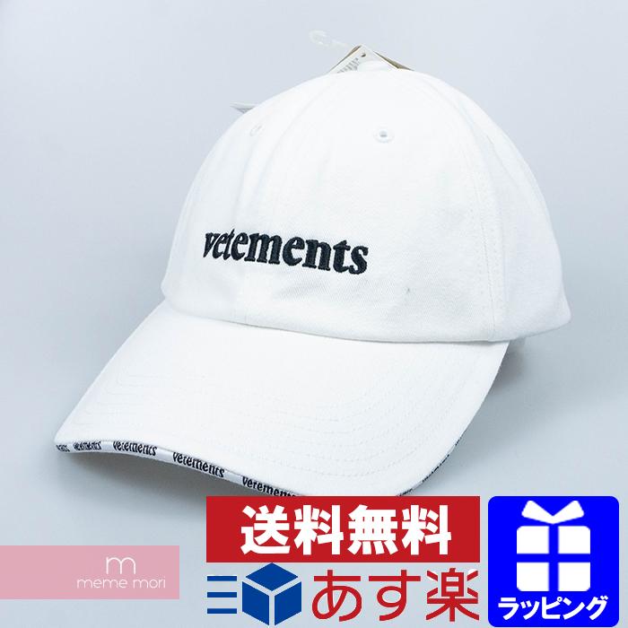VETEMENTS×Reebok 2020SS New Logo Cap SS20CA001 ヴェトモン×リーボック ニューロゴキャップ ウォッシュ加工 ロゴ刺繍 帽子 ホワイト プレゼント ギフト【200220】【新古品】