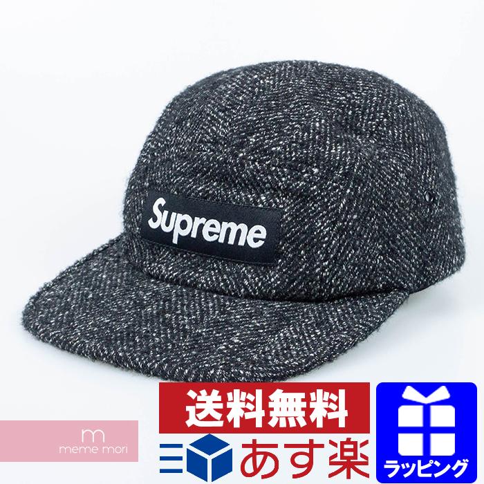 Supreme×Loro Piana 2018AW Wool Camp Cap シュプリーム×ロロピアーナ ウールキャンプキャップ 帽子 ブラック×グレー プレゼント ギフト【200513】【新古品】