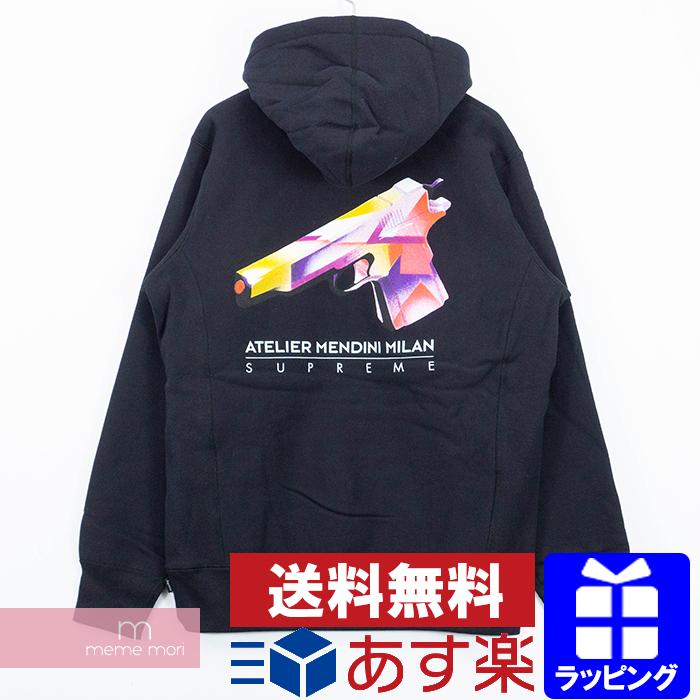 Supreme 2016SS Mendini Gun Hooded Sweatshirt シュプリーム メンディーニガンフーデッドスウェットシャツ パーカー プルオーバー ブラック サイズL 【200120】