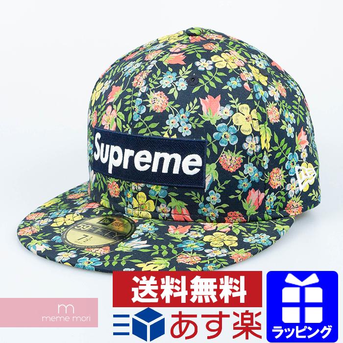 Supreme×New Era 2013SS Liberty Floral Box Logo New Era シュプリーム リバティーフローラルボックスロゴニューエラキャップ 幅柄 帽子 ネイビー×マルチカラー 【200208】