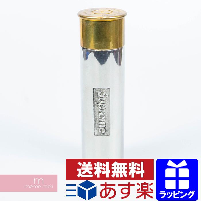 Supreme 2018SS Cartridge flask bottle シュプリーム カートリッジ フラスコ ボトル 水筒 インテリア ロゴ シルバー 【200307】【中古-A】