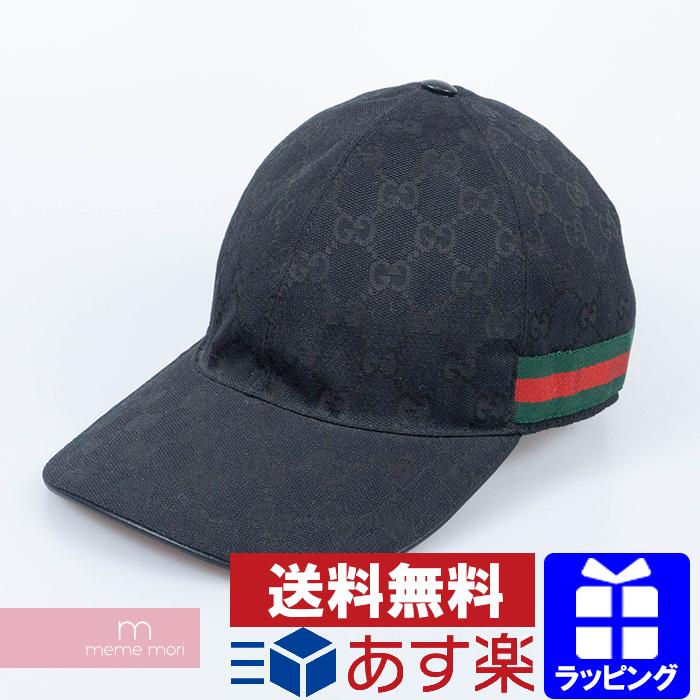 GUCCI Original GG Canvas Baseball Cap 200035 KQWBG グッチ オリジナルGGキャンバスベースボールキャップ 帽子 総柄ロゴ ブラック サイズL(59)【200507】【中古-B】