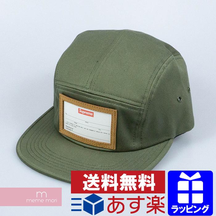 Supreme Camp Cap シュプリーム ネームタグキャンプキャップ 帽子 カーキ 【200404】【新古品】