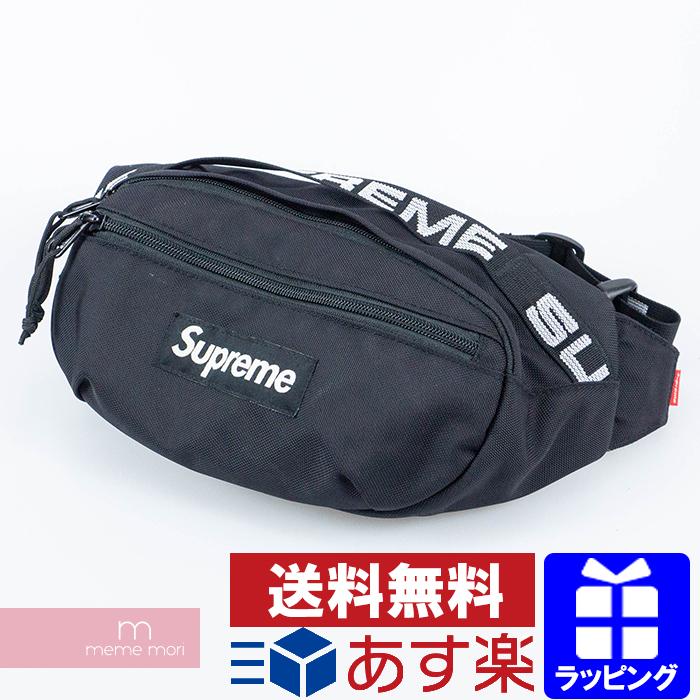 Supreme 2018SS Waist Bag シュプリーム ウエストバッグ ボディバッグ ポーチ ブラック【200417】【中古-B】