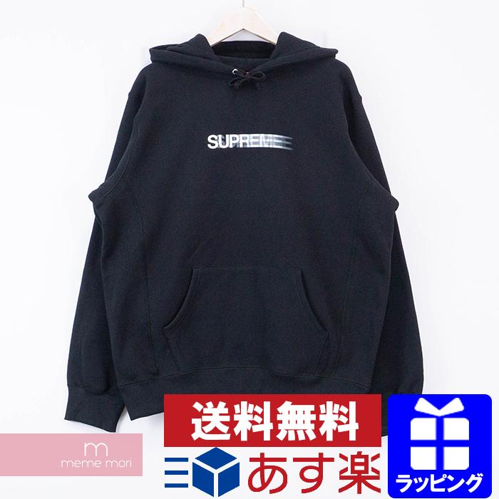 【全品15%OFF&クーポン!】Supreme 2020SS Motion Logo Hooded Sweatshirt シュプリーム モーションロゴフーデッドスウェットシャツ プルオーバーパーカー ブラック サイズM【200506】【新古品】