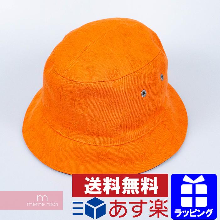 Louis Vuitton 2020SS Chapeau Monogram Denim M76210 ルイヴィトン シャポー・モノグラムデニム リバーシブルバケットハット 帽子 総柄ロゴ オレンジ×ネイビー【200425】【中古-A】