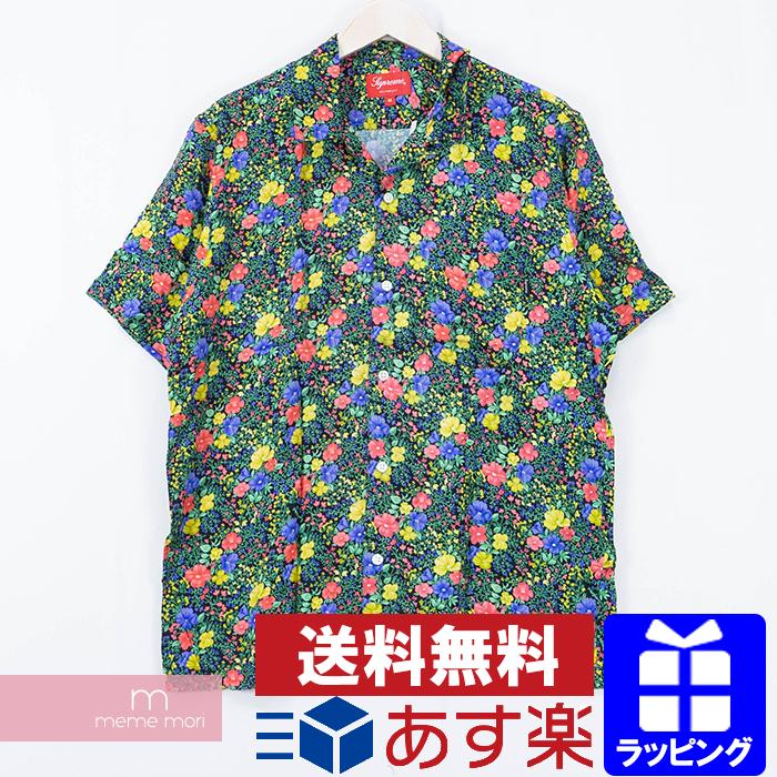 【全品15%OFF&クーポン!】Supreme 2019SS Mini Floral S/S Rayon Shirt シュプリーム ミニフローラルショートスリーブレーヨンシャツ 開襟 総柄 ブラック サイズL 【200427】【新古品】