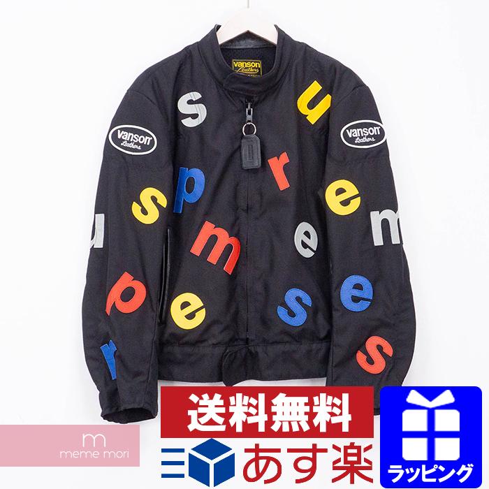 【全品15%OFF&クーポン!】Supreme×VANSON 2020SS Leathers Letters Cordura Jacket シュプリーム×バンソン レザーズレターズコーデュラジャケット ナイロンブルゾン ブラック サイズM【200502】【新古品】