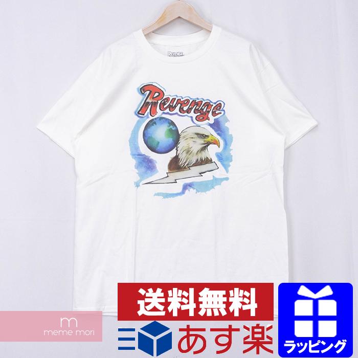 REVENGE×STORM Eagle Earth Tee リベンジストーム イーグルアースTシャツ 半袖カットソー ホワイト サイズXL【200511】【新古品】