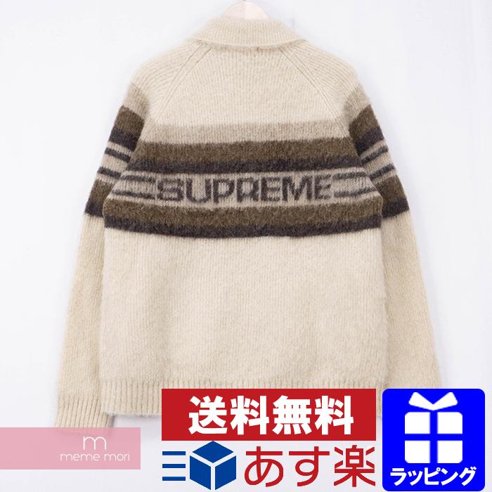 【全品15%OFF&クーポン!】Supreme 2019AW Brushed Wool Zip Up Sweater シュプリーム ブラッシュドウールジップアップセーター ニットカーディガン ベージュ サイズL【200511】【中古-A】
