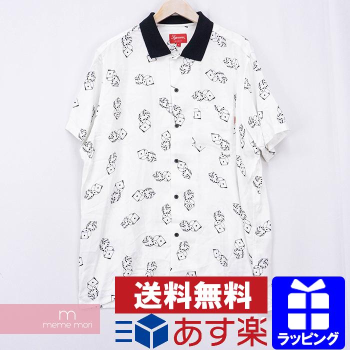 【全品15%OFF&クーポン!】Supreme 2019SS Dice Rayon S/S Shirts シュプリーム ダイスレーヨンショートスリーブシャツ 総柄半袖シャツ サイコロ ホワイト サイズL【200517】【新古品】