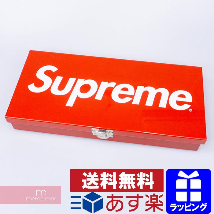 Supreme 2017SS Large Metal Storage Box シュプリーム ラージメタルストレージボックス 工具箱 小物入れ ツールボックス 雑貨 レッド【200522】【中古-B】