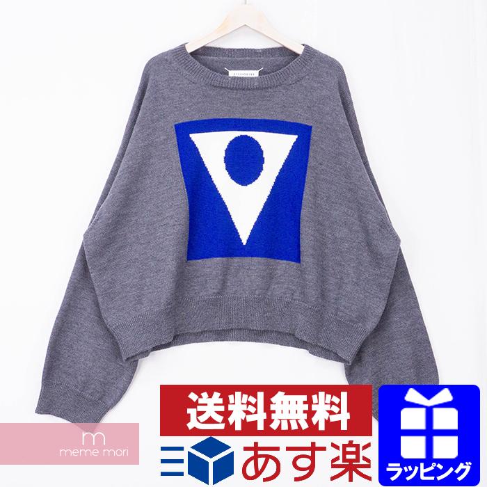 【全品15%OFF&クーポン!】Maison Margiela 10 2018 Cropped Knit Sweater S30HB0047 メゾン マルジェラ マルタン マルジェラ クロップドニットセーター ウール グレー サイズS【200523】【中古-A】