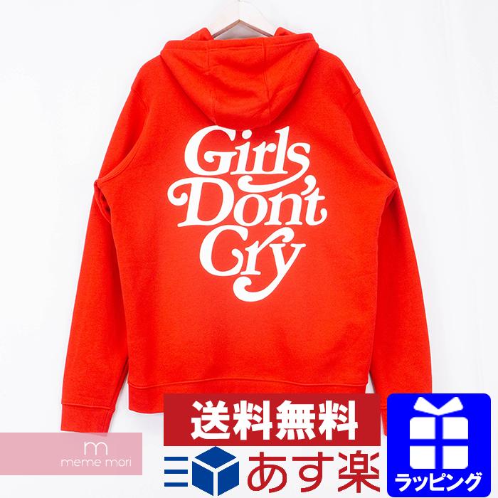 【全品15%OFF&クーポン!】Girls Don't Cry×NIKE SB 2019SS Logo Hoody ガールズドントクライ×ナイキ ロゴプリントフーディ パーカー プルオーバー レッド サイズL【200530】【中古-A】