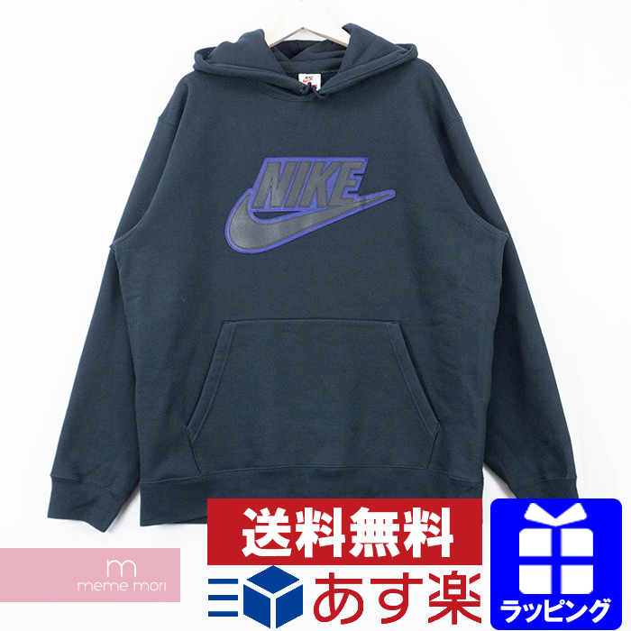 Supreme X NIKE 2019AW Leather Applique Hooded Sweatshirt CK6225 100 シュプリーム X Nike leather applique hooded sweat shirt pullover parka logo back raising