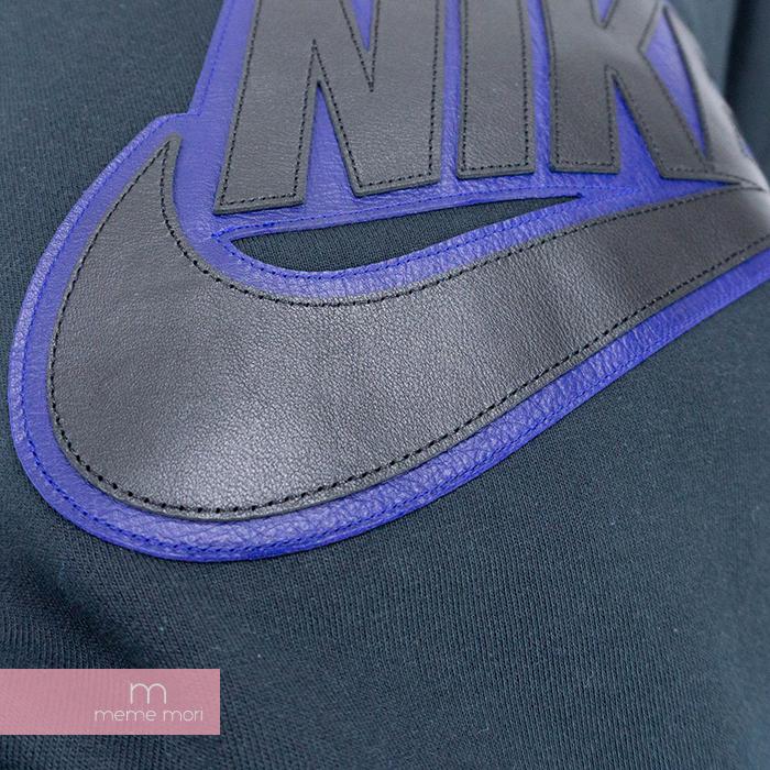 Supreme X NIKE 2019AW Leather Applique Hooded Sweatshirt CK6225 010 シュプリーム X Nike leather applique hooded sweat shirt pullover parka logo back raising