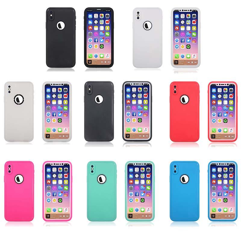 送料無料 翌日お届け 出荷 液晶保護フィルム付き スマホケース iPhone X アイフォン 背面型 強化ガラス保護フィルム付き 超薄軽量 ハードケース 18%OFF