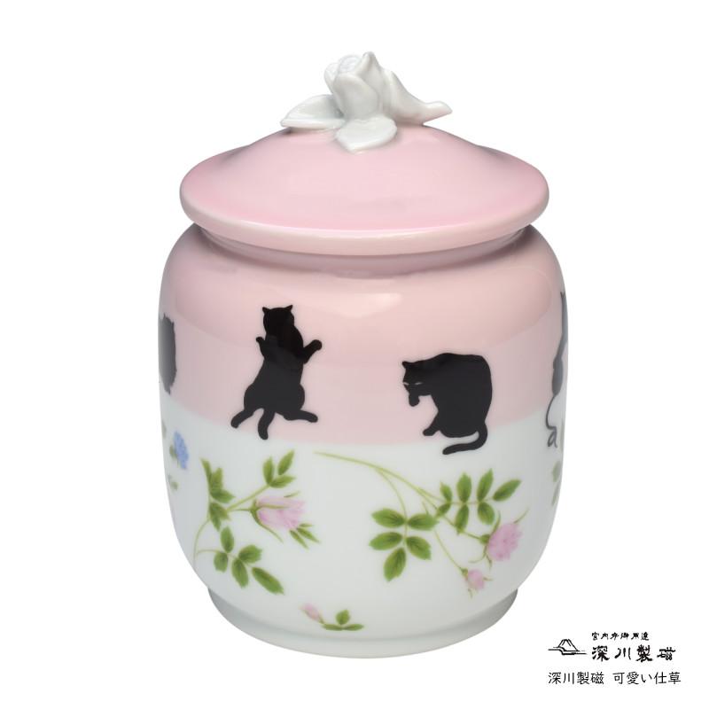深川製磁 ペット骨壷 愛猫用3寸 【かわいい仕草】