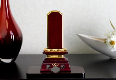 位牌『勝美 面粉 紫檀 5.5寸』文字入れ一名無料!【送料無料】[唐木位牌][5.5号]