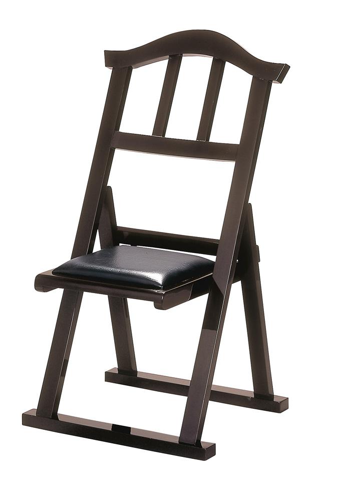【寺院用椅子】 折り畳み椅子 ブラウン