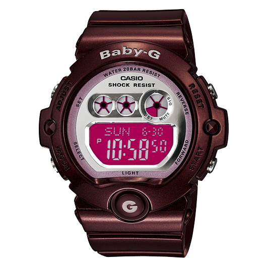 Casual watch BG-6900-4JF for the woman that CASIOBaby-G is active