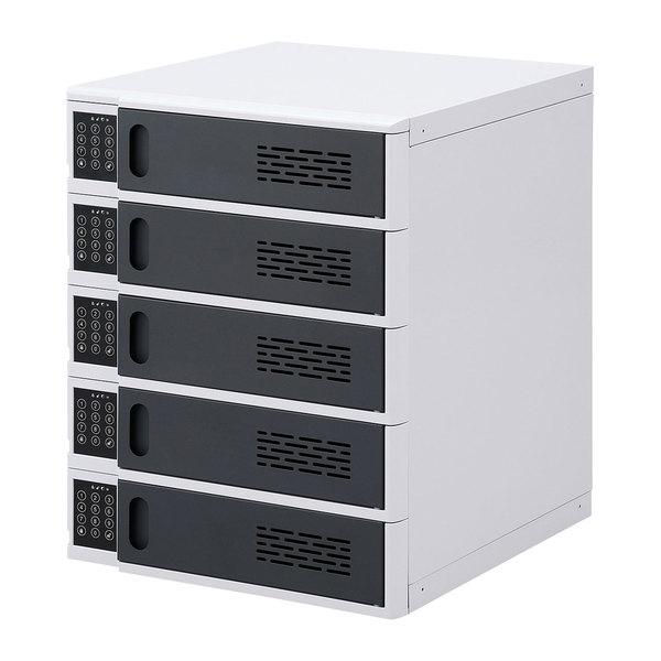 サンワサプライ 電子暗証番号ロック付き個別収納キャビネット CAI-CAB47