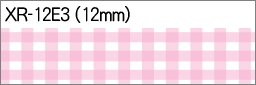 CASIO カシオ計算機 ネームランド おなまえテープ オーバーのアイテム取扱☆ 12mm ピンク 卸売り チェック柄