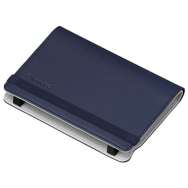 開いてすぐ使える 専用ストッパーでしっかりホールド CASIO カシオ計算機 ブックカバータイプ 売り込み 流行 ブルー 電子辞書オプション XD-CC2505BU