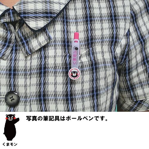 "Mascot bear モングッズ Kumamoto Prefecture local character ""Winnie Mont ' of ballpoint pen BPA-10KM-PB (Pink)"