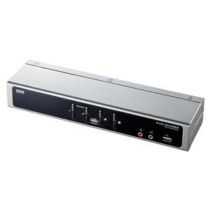 サンワサプライ デュアルリンクDVI対応パソコン自動切替器(4:1) SW-KVM4HDCN