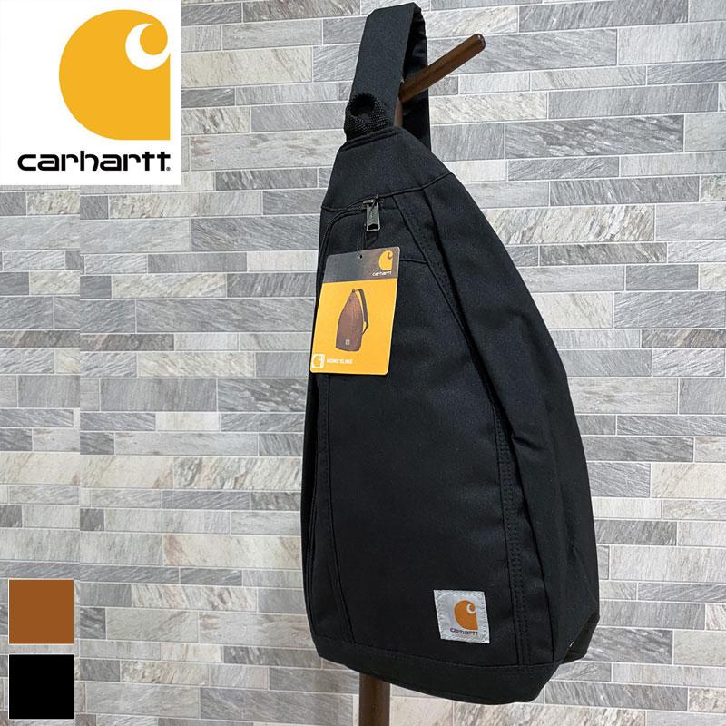 メンズ ボディバッグ ブラック ブラウン Carhartt 販売実績No.1 カーハート ワンショルダー バッグ スリングバッグ メンズファッション ワンポイント MC 内祝い レディース MONO SLING
