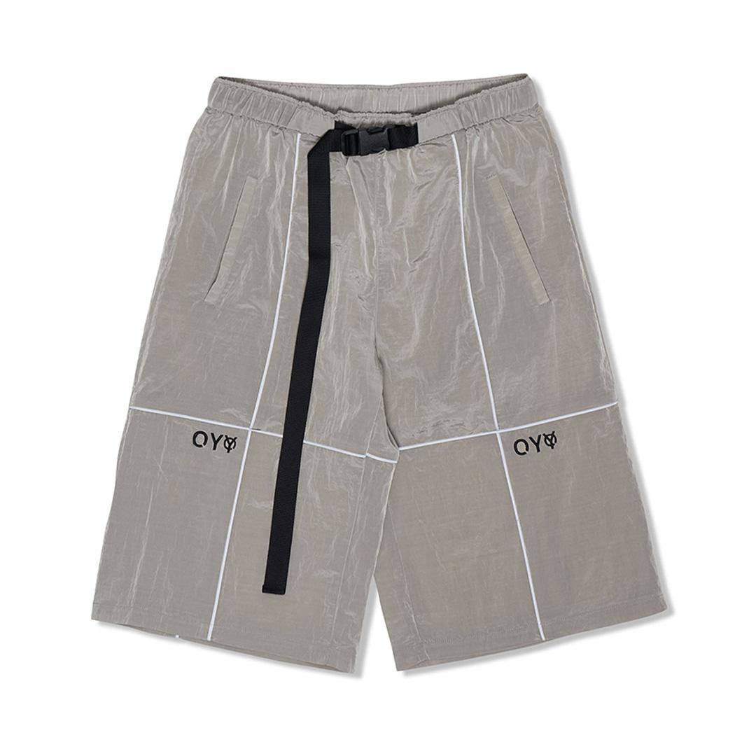 韓国 韓国ブランド 韓国ファッション トップス ボトム パンツ ハーフパンツ ユニセックス メンズ レディース 灰色 オーワイ あす楽対応 原宿 AL完売しました OY 黒 ストリート 赤 新作 全3色 リフレクティブメタルワイドパンツ