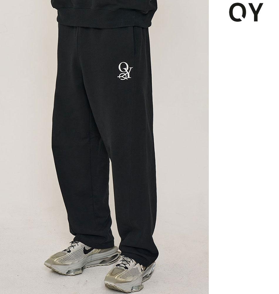 韓国ブランド 韓国ファッション スウェットパンツ ボトムス セットアップ可能 イージーパンツ メンズ 低価格化 ユニセックス 黒 ブラック 原宿 ストリート 秋 TWIST aw OY 新作 LINE あす楽対応 PANTS 2021 正規品 全1色 レディース オーワイ 今だけ限定15%OFFクーポン発行中 冬