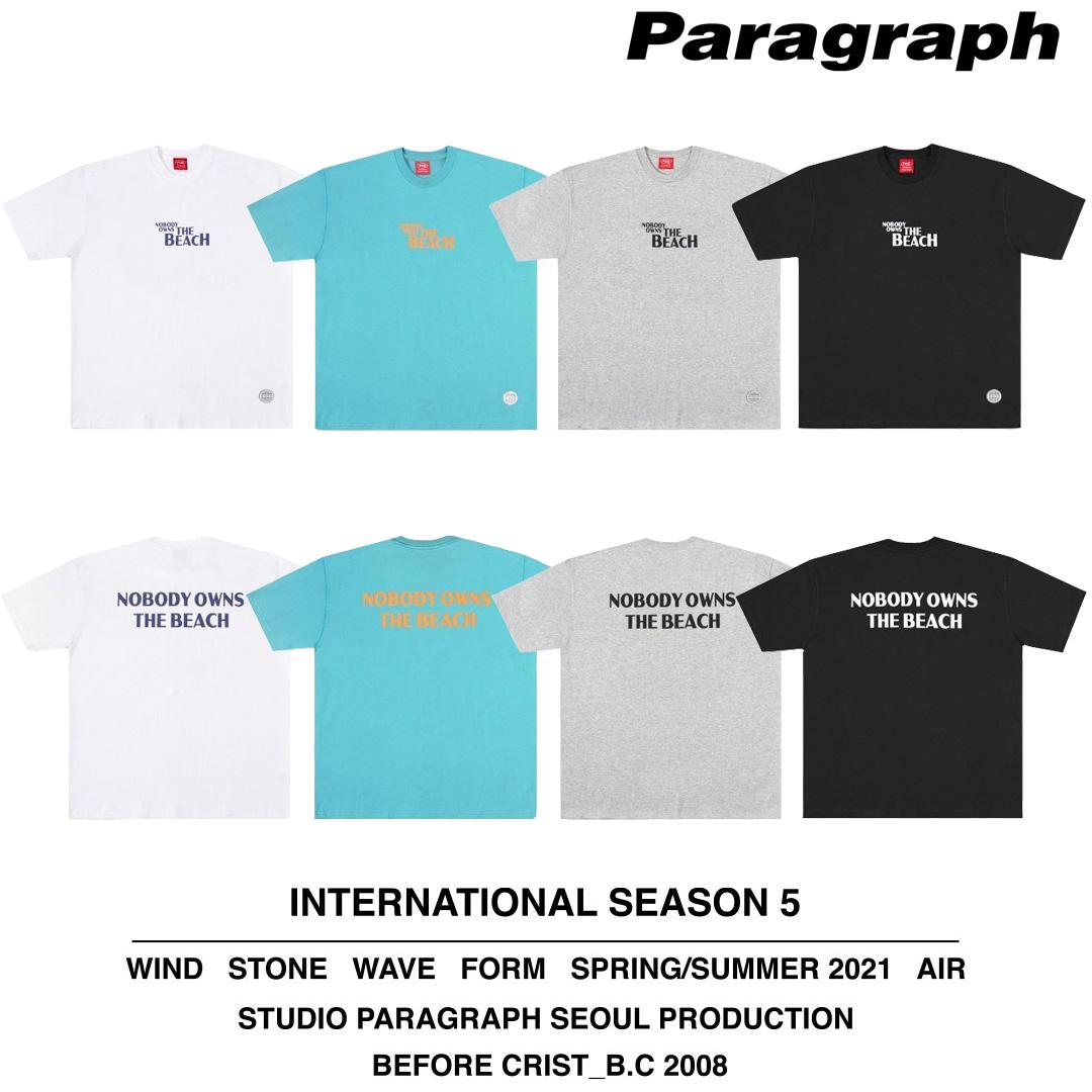 韓国 韓国ブランド 韓国ファッション トップス Tシャツ ロゴ 半袖 ユニセックス メンズ レディース あす楽対応 ストリート Paragraph パラグラフ NOBODY MINI セール特別価格 原宿 ファッション通販 全4色 正規品 セール