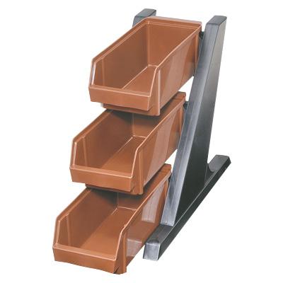 カトラリーボックス カトラリー収納 カトラリートレー オーガナイザー 割り引き BK オーガナイザー 3段1列 ブラウン 国産品