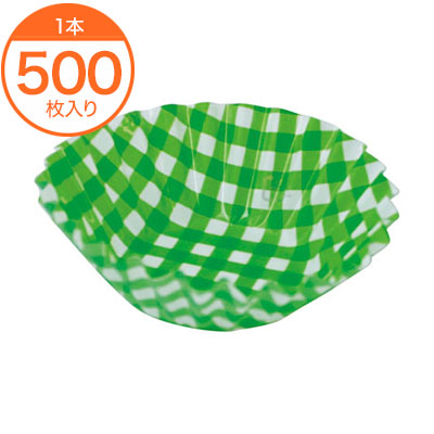 フィルムケース フードケース 格子 緑 定価 500枚入 1本 6F 新作送料無料
