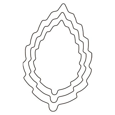 抜き型 流行 抜型 ステンレス製 至上 野菜抜き お弁当 木の葉 たかもりの厚口野菜抜 業務用 お正月 3PC