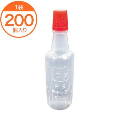 激安特価品 セール特価 調味料入れ タレビン 5cc 赤 200個