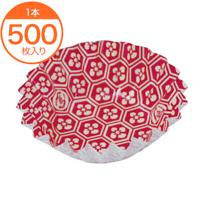 格安 価格でご提供いたします 紙ケース フードケース 贈物 ペーパーラミ 花菱 500枚入 赤 1本 5F