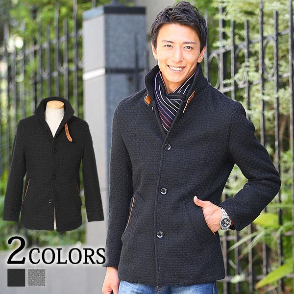 コート メンズ メルトン ジャケット アウター カジュアル きれいめ スタンドカラー ビジネス 秋 冬