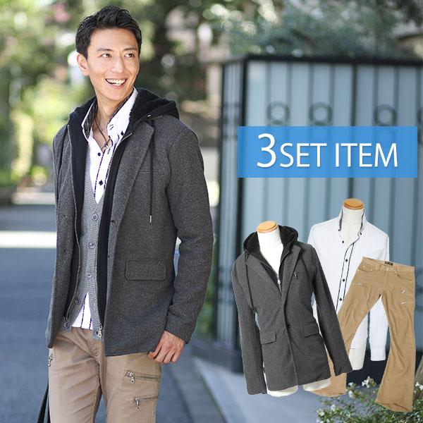 ☆コートセット☆コート×シャツ×パンツの3点セット 23