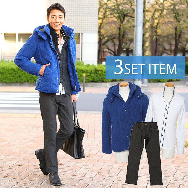 コートセット ジャケット×シャツ×パンツの3点セット 4