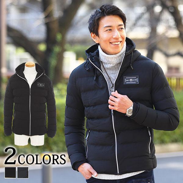 軽くて暖かいうえに 美シルエットでスタイリッシュにキマる ワンポイント美シルエット中綿ジャケット ジャケット 中綿 メンズ 中綿ジャケット 新発売 おトク 美シルエット