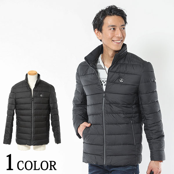 さり気デザインがシンプルかっこいいコーデを演出 正規激安 英字デザインキルティング中綿ジャケット 今ダケ送料無料