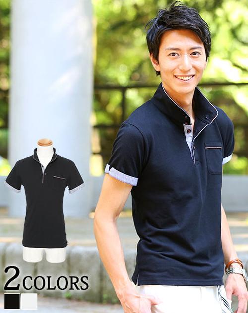 ポロシャツ メンズ シャツ 半袖 ボタンダウン ポケット  メンズファッション